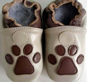 Leather slippers - Bearfootprint